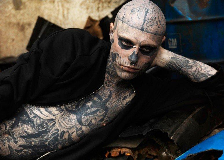 Modelo Rick Genest, conhecido por Zombie Boy, morre aos 32 anos